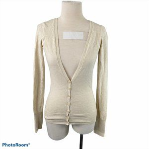 URBAN BEHAVIOR Beige Button Down Cardigan